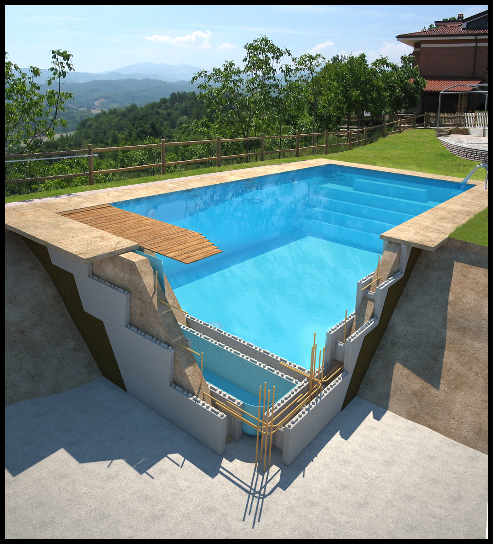 Ferraillage piscine beton simple with ferraillage piscine for Les pieux piscine